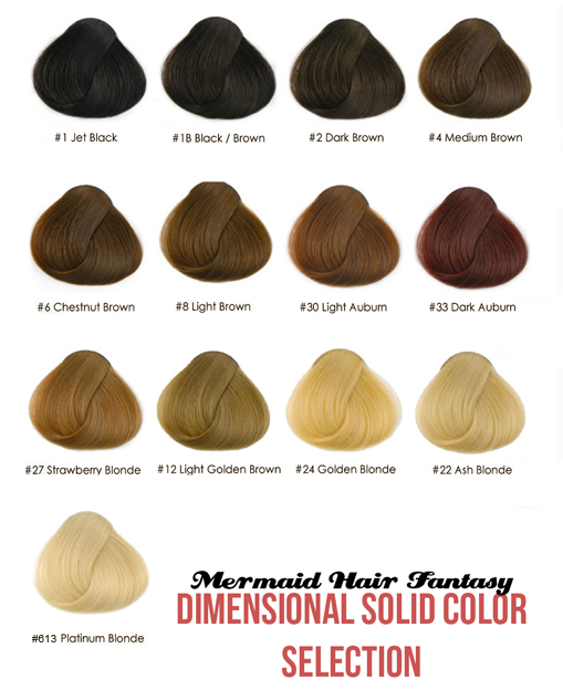 color chart hair extensions