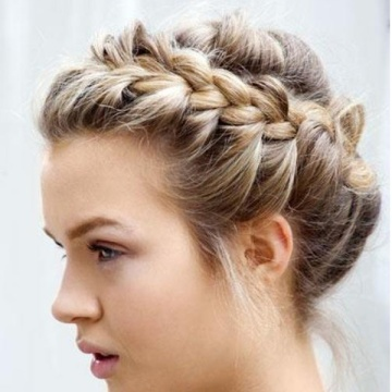 braided new years eve hair updo