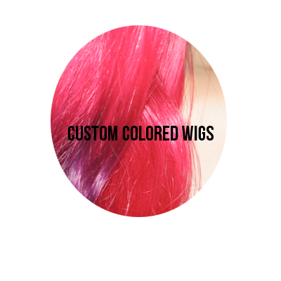 custom colored hair wigs
